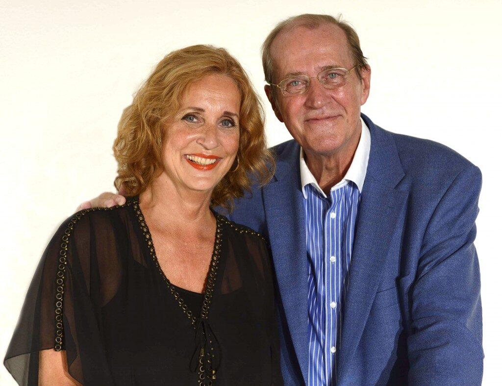 Koncertrejsens gæster, operasanger Anne Margrethe Dahl og dirigent Frans Rasmussen