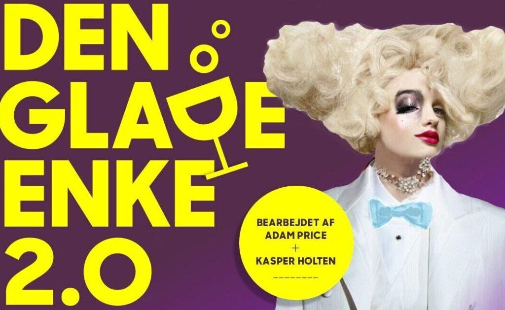 Plakat, Den Glade Enke på Det kgl. Teater